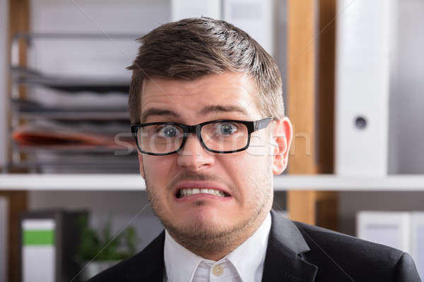 Close-up Of A Irritated Businessman Stock photo © AndreyPopov