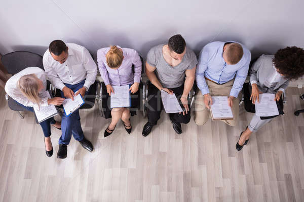 Row Of People Waiting For Job Interview Stock photo © AndreyPopov