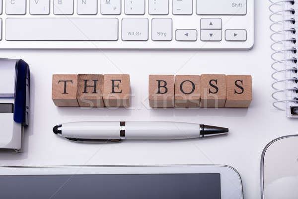 Boss текста мнение оргтехника Сток-фото © AndreyPopov