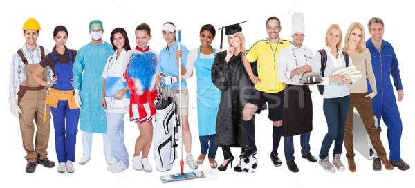 Csoportkép sokoldalú foglalkozások nagyobb csoport emberek üzlet Stock fotó © AndreyPopov