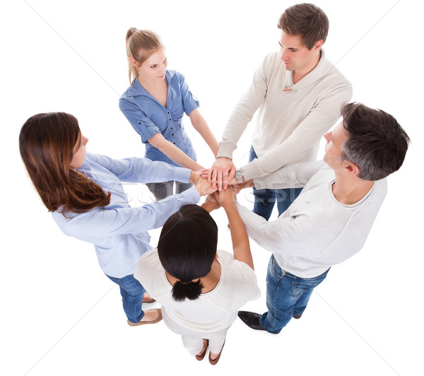 Group Of People Stacking Hand Stock photo © AndreyPopov