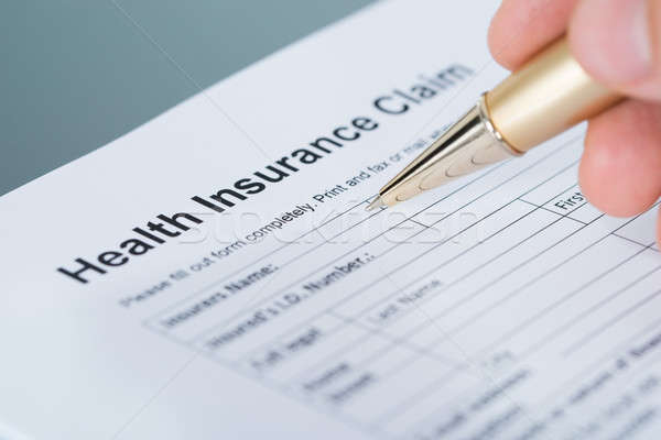 Stock photo: Health insurance claim form