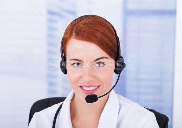 Customer Service Representative With Microphone Stock photo © AndreyPopov