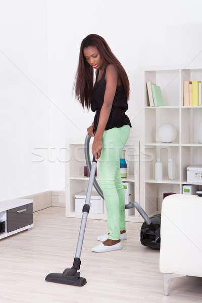 очистки домой пылесос женщину Сток-фото © AndreyPopov
