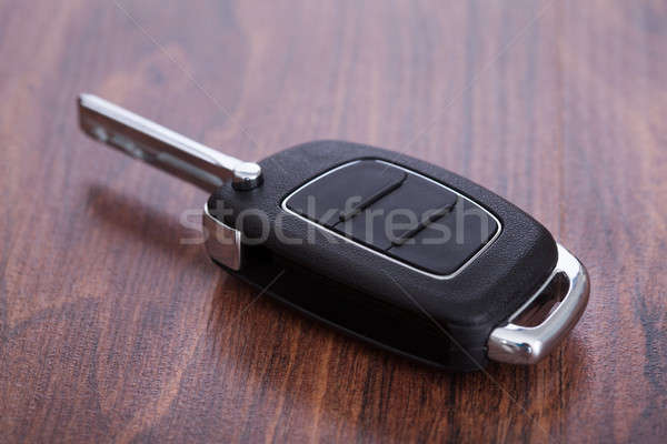 Stock photo: Car Key On Table