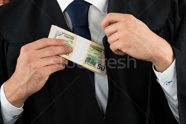 судья доллара кармана деньги стороны Сток-фото © AndreyPopov