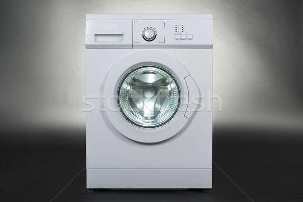 стиральная машина серый белый изолированный технологий фон Сток-фото © AndreyPopov