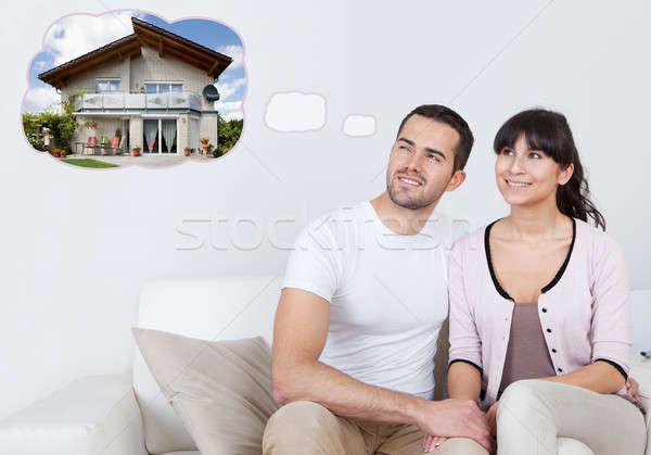 çift düşünme kendi ev genç Stok fotoğraf © AndreyPopov