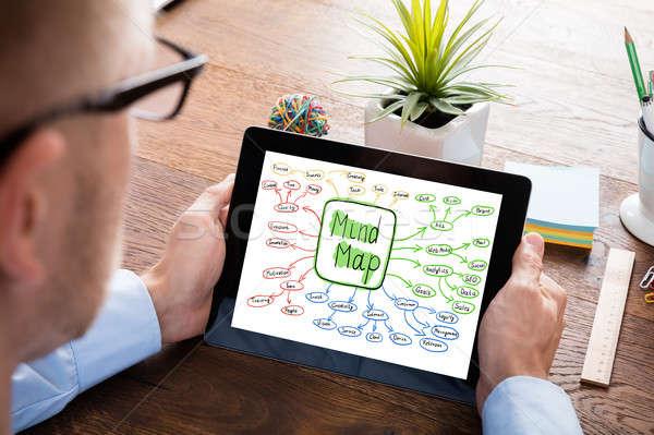 Mind Map Concept On Digital Tablet Stock photo © AndreyPopov