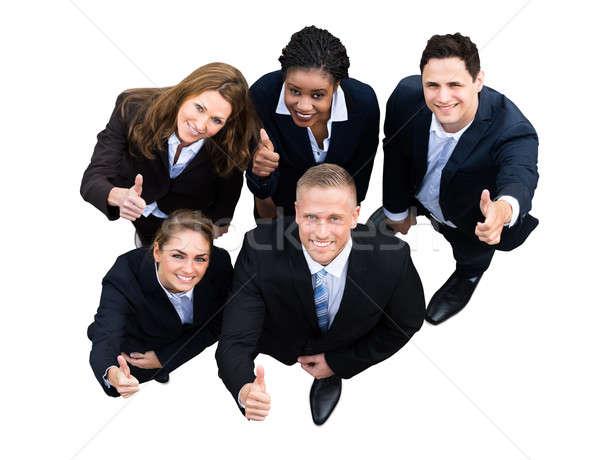 Magasról fotózva kilátás sikeres üzletemberek különböző nemzetiség Stock fotó © AndreyPopov