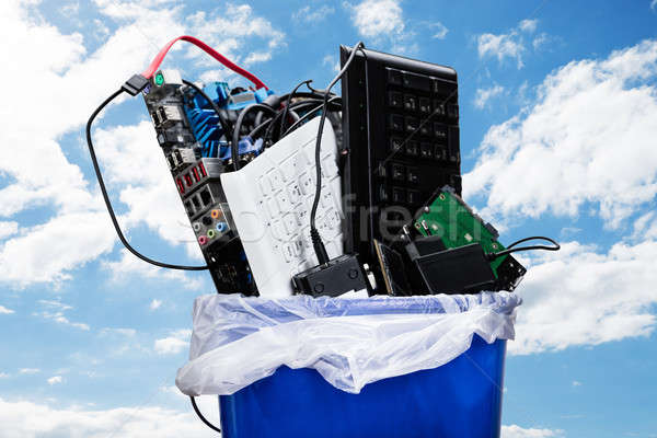 Hardware Equipment In Dustbin Stock photo © AndreyPopov