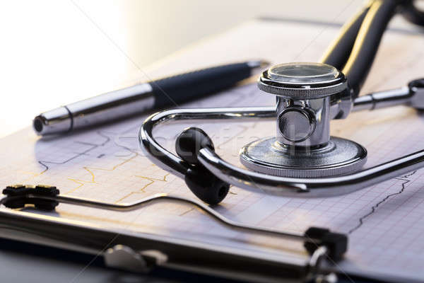 Stethoscope On Electrocardiogram Stock photo © AndreyPopov