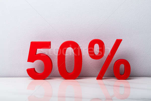 Red Fifty Percent Discount Stock photo © AndreyPopov