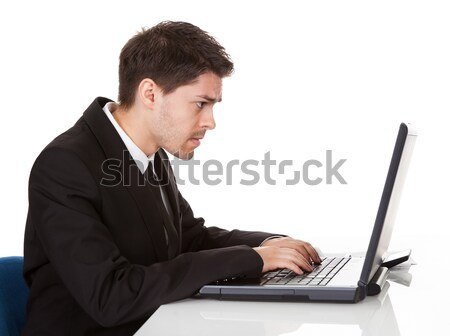 Stock photo: Senior business men having back pain