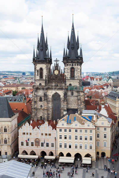 Gotischen Kirche Altstadt Prag Tschechische Republik Himmel Stock foto © AndreyPopov