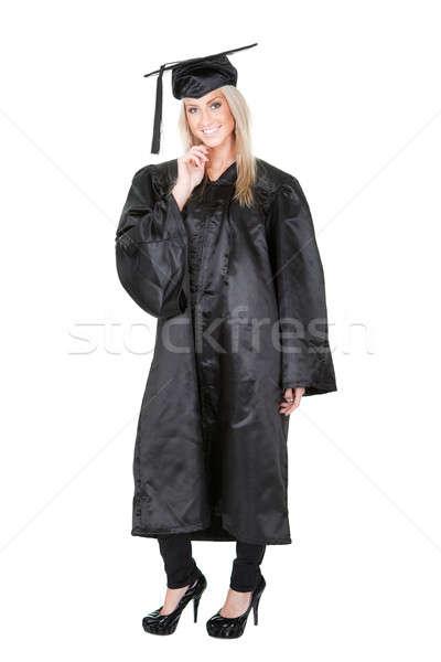 Beautiful female student graduating Stock photo © AndreyPopov