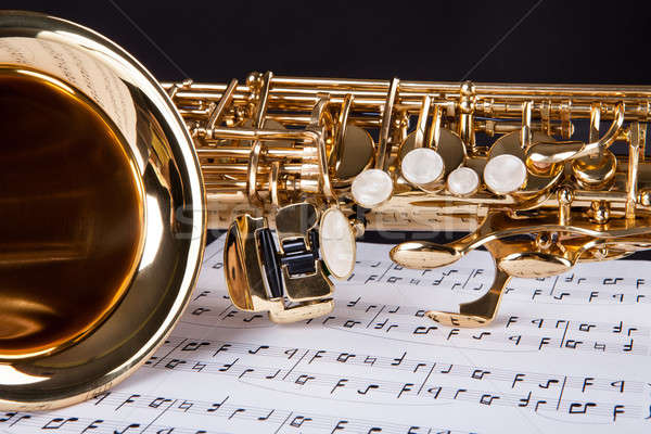 Trumpet And Musical Note Stock photo © AndreyPopov
