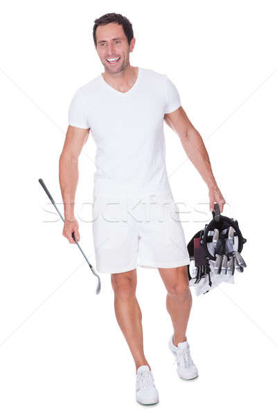 Golf Player Holding Bag With Clubs Stock photo © AndreyPopov