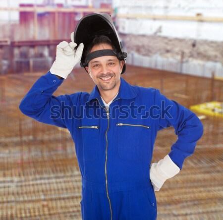 Portrait of confident welder in the mask Stock photo © AndreyPopov