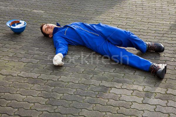 Inconsciente uniforme calle jóvenes Foto stock © AndreyPopov