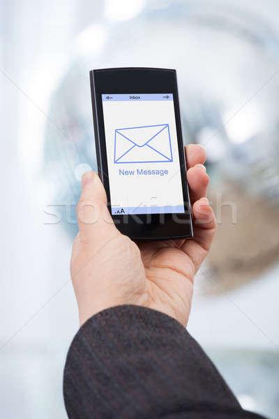Mão novo mensagem imagem Foto stock © AndreyPopov