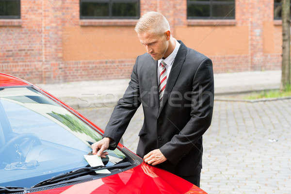 Parking Ticket On Car Windscreen Stock photo © AndreyPopov