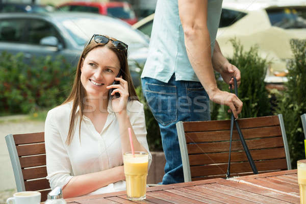 Thief Stealing Purse Of A Woman Stock photo © AndreyPopov