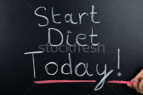 Start Diet Concept On Blackboard Stock photo © AndreyPopov