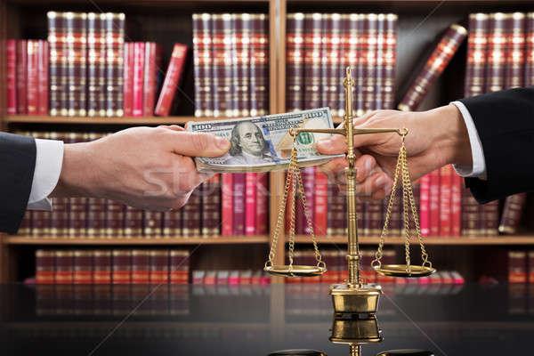 Justice échelle juge client Photo stock © AndreyPopov