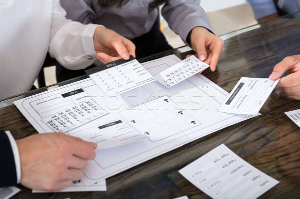 Business People Designing User Interface For New Project Stock photo © AndreyPopov