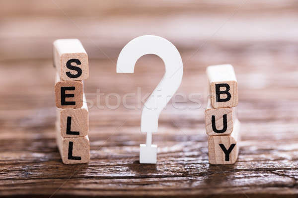 Buy Or Sell Option With Question Mark Sign Stock photo © AndreyPopov
