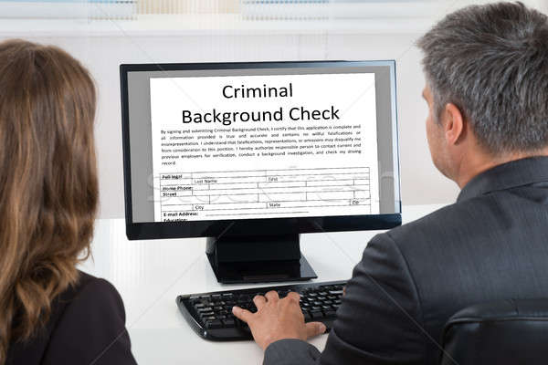 People Doing Criminal Background Check  Stock photo © AndreyPopov