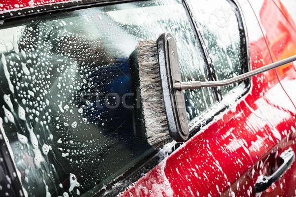Stock fotó: Személyek · kéz · mosás · autó · közelkép · víz