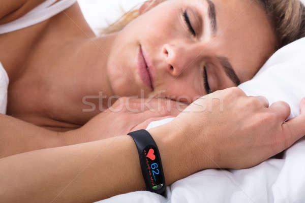 Fitness Activity Tracker On Woman's Hand Stock photo © AndreyPopov