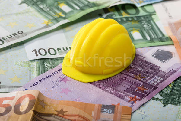 Hart Hat On Euro Banknotes Stock photo © AndreyPopov