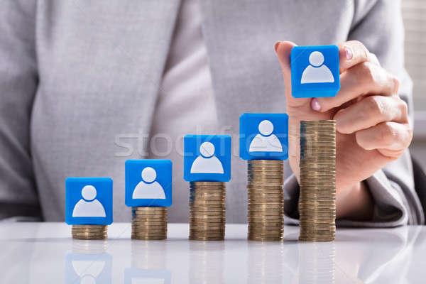 Kandydat ikona monet strony niebieski Zdjęcia stock © AndreyPopov