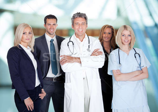 Businesspeople And Medical Workers Stock photo © AndreyPopov
