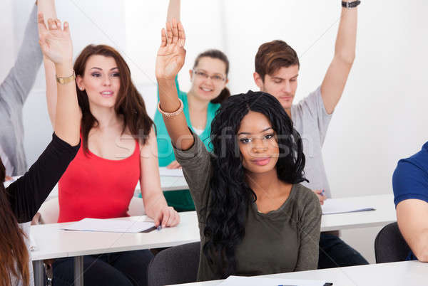 College Student Answering Question Stock photo © AndreyPopov