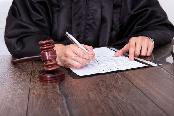 Judge Holding Mallet Stock photo © AndreyPopov