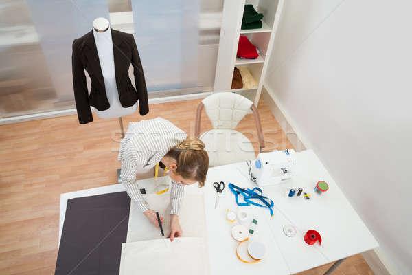 Fashion Designer Working In Studio Stock photo © AndreyPopov
