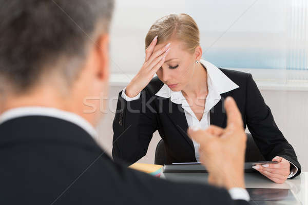 Businessperson Quarreling To Businesswoman Stock photo © AndreyPopov