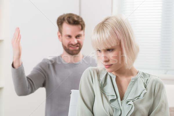 Man Having Argument With Woman Stock photo © AndreyPopov