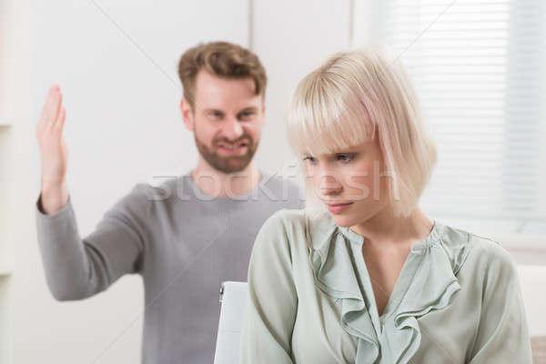 Homem argumento mulher frustrado moço infeliz Foto stock © AndreyPopov
