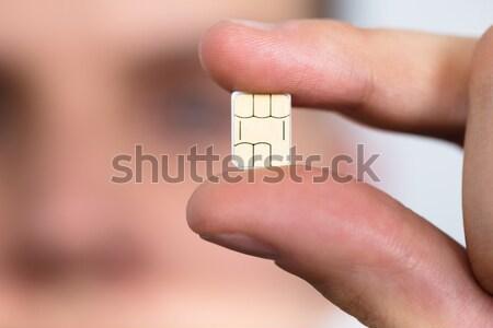 Foto stock: Médico · do · sexo · masculino · pílula · feliz · mão