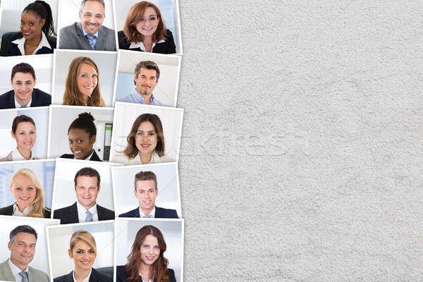 グループ 選択 候補者 写真 コラージュ 笑みを浮かべて ストックフォト © AndreyPopov