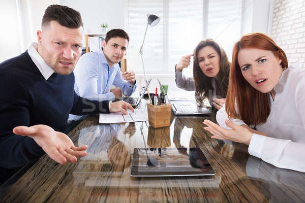 Business Executives Complaining In Office Stock photo © AndreyPopov