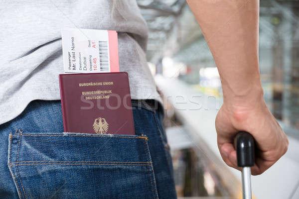Passeport embarquement poche billets Photo stock © AndreyPopov