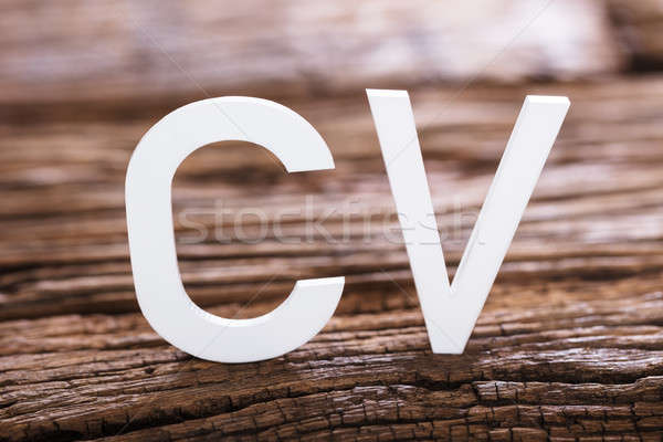 Close-up Of A CV Word Stock photo © AndreyPopov