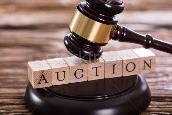 Gavel On Auction Word Stock photo © AndreyPopov