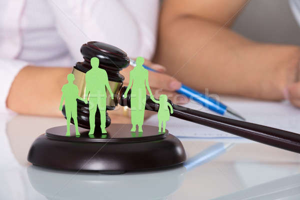 Separation Of Family Figure Cut Out Stock photo © AndreyPopov